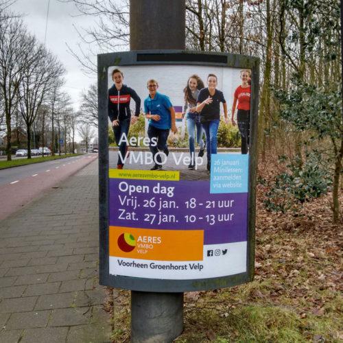 Aeres, vmbo en mbo scholen in noord en midden Nederland. Open dag aankondiging.