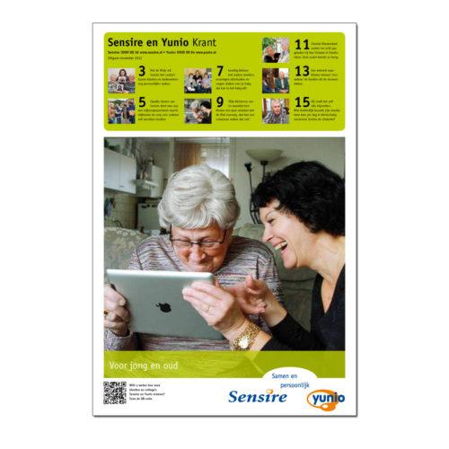 Sensire, krant over werkzaamheden van deze wijk-en thuiszorg organisatie in Oost Nederland
