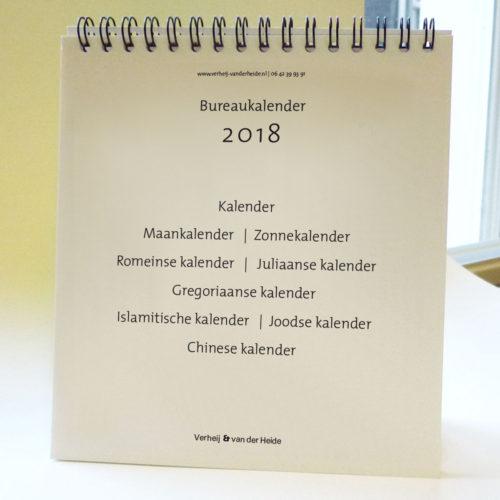 Bureaukalender van Verheij & van der Heide, jaarlijkse uitgave, telkens ander thema
