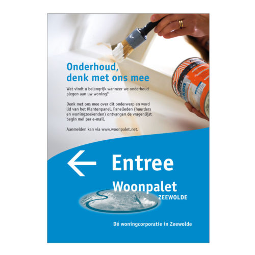 Woonpalet, affiche voor enquette oproep.